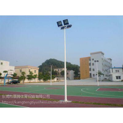 康腾体育供应镀锌防腐球场灯杆 质保可达10年以上批发价 灯柱现货直销