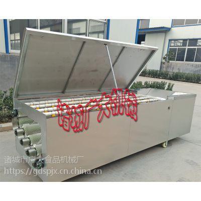 洗贝壳机 自动毛辊贝壳清洗机 广大QX-1000-8系列洗花甲机