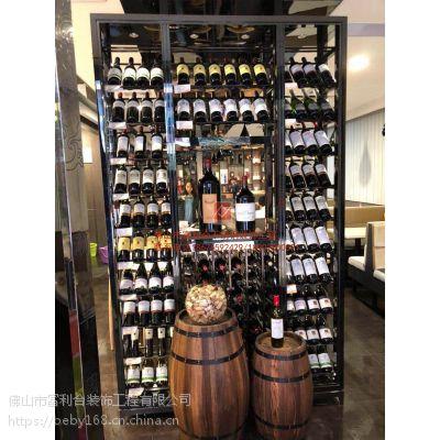 不锈钢酒柜厂家 高档黑钛红酒柜