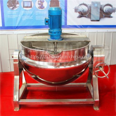 500L可倾式电加热夹层锅 导热油夹层锅多少钱 丰盛熬糖化糖保温锅