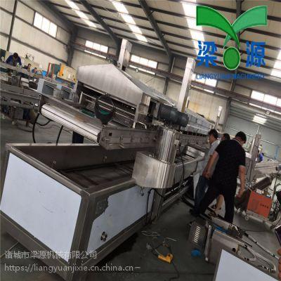 全自动小龙虾油炸机成套生产流水线设备厂家直供