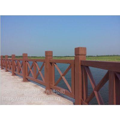 河源湖边水泥仿木护栏|河道仿石护栏