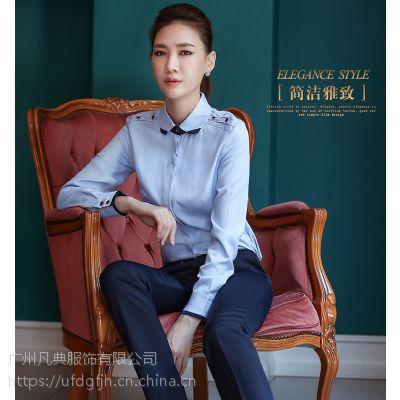 供应时尚办公室女衬衫、翻领衬衣、修身衬衣定制,款式新颖