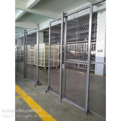 车间隔断网 库房边框喷塑铁丝围栏 危险区隔离栅网仓库围栏定