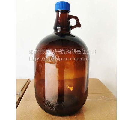 供应2.5L.4L试剂瓶留样瓶棕色玻璃瓶(可配聚四氟垫片)