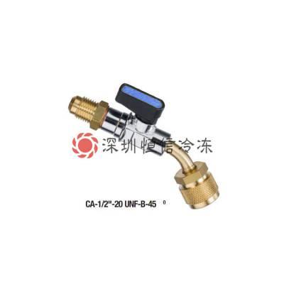 瑞士REFCO威科小球阀CA-1/4-SAE-Y/B/R充气软管连接阀