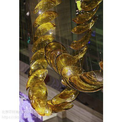 北京厂家定制意大利风格玻璃飞龙吊LED灯