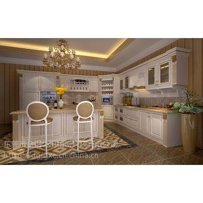 免费量尺高端定制L型 U型 一字型家用不锈钢厨柜