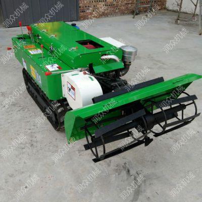 大棚自动松土机 35马力履带自走式旋耕机