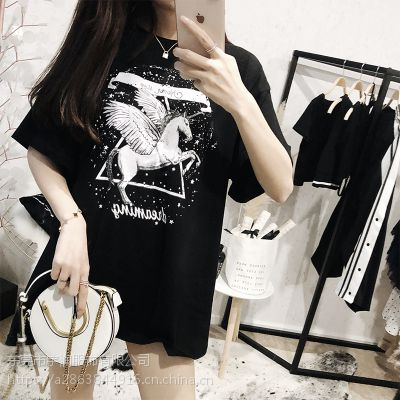 2019夏季T恤换季亏本清货两三块处理韩版女装库存尾货批发厂家清货