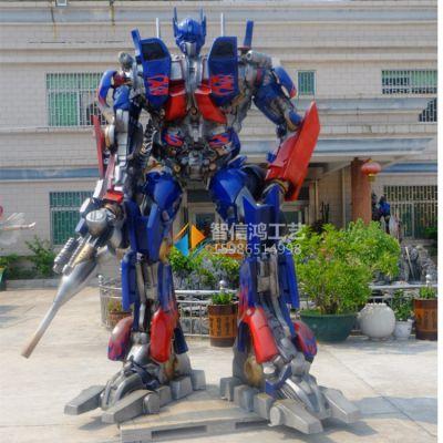 厂家直销擎天柱机器人雕塑 变形金刚卡通动漫影视玻璃钢人物雕塑