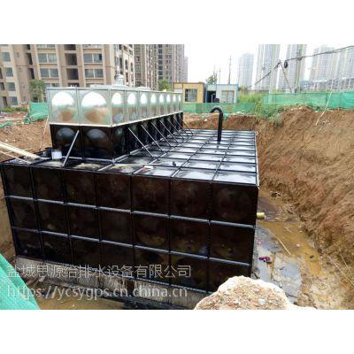 阿勒泰地埋式箱泵一体化CAD图纸展示