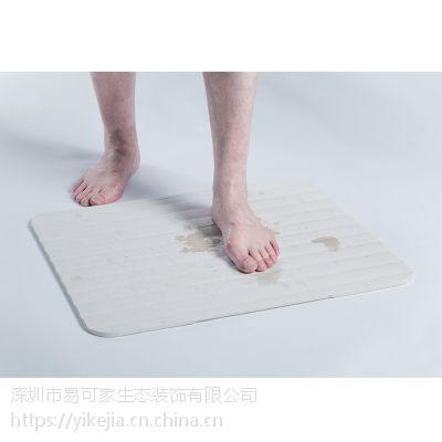 易可家居家日用蛭石硅藻土吸水脚垫卫生间浴室地垫厨房门垫