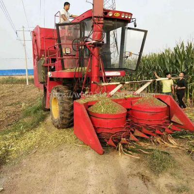 二手底盘改装圆盘式青储机 自走式玉米秸秆收割青贮机厂家