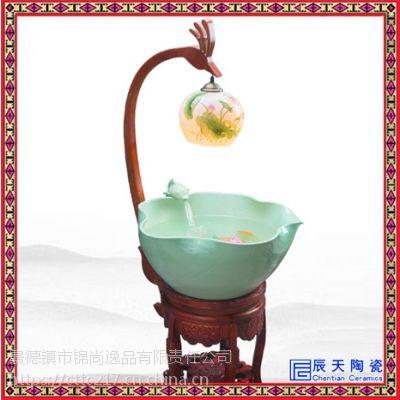 室内流水喷泉家用装饰品喷泉陶瓷喷泉订做陶瓷喷泉