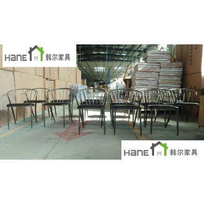 工厂直销无锡餐饮家具 LOFT餐厅实木桌椅订做 韩尔LOFT品牌