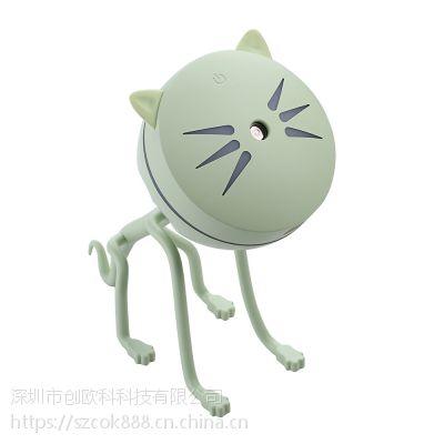 猫咪加湿器 迷你空气家用USB加湿器 静音香薰超声 创欧科特礼品批发