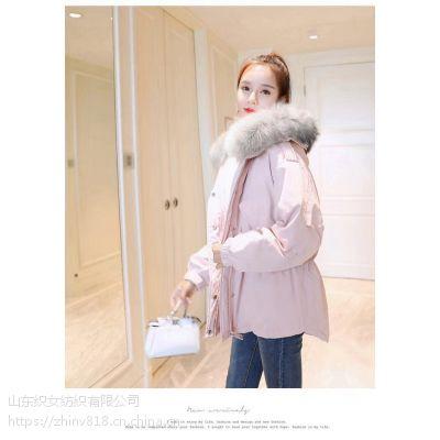 2017冬季韩版新款中长款羽绒服
