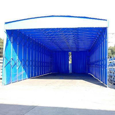 南京市六合区伸缩推拉雨棚安装 悬空固定雨棚 轨道式伸缩雨篷 布 专业搭建