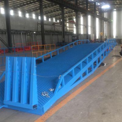 厂家直销移动式登车桥手动液压货梯物流装卸货神器6吨8吨10吨叉车卸货台