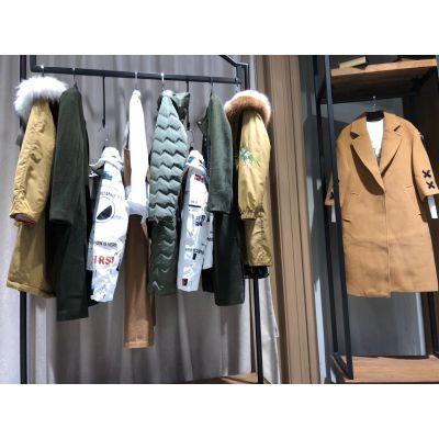 女装品牌折扣走份批发伊袖18年秋冬装原创设计师品牌女装