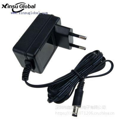 XinsuGlobal 14.6V1A欧规铅酸电池充电器 12V1A充电器 XSG1461000EU