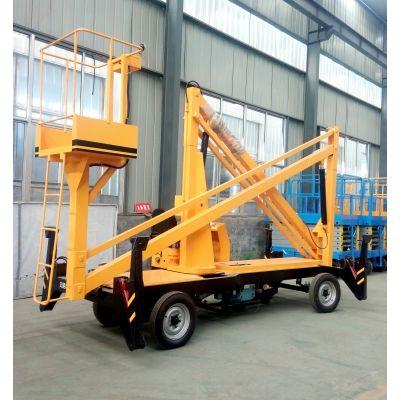 济南金创专业生产曲臂式升降平台车 360度旋转登高车 可跨越障碍物高空作业平台 GKT-15柴油机升