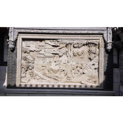 供应苏州人物砖雕照壁 山东室外砖雕门楼 广场使用