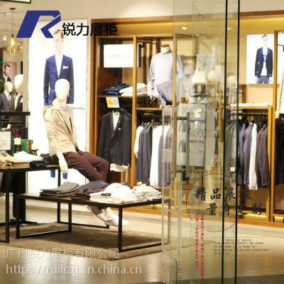 男女装货架落地品牌专卖店服装架复古展示架上墙衣架展柜