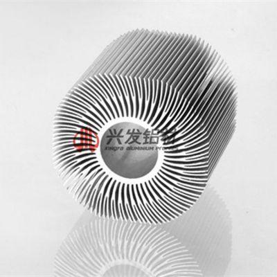 佛山挤压铝型材厂家直销太阳花散热器型材 规格定制