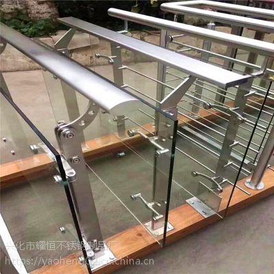 耀恒 供应做工精致直线式不锈钢楼梯立柱及配件 不锈钢栏杆ASEW85