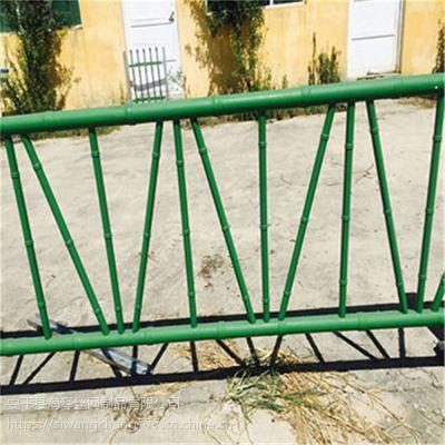 喷塑仿竹篱笆围栏 竹节管仿真竹草坪篱笆护景区绿色竹节围栏