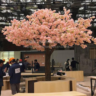 客厅仿真樱花树装饰树橱窗落地假花摆件婚庆布景室内