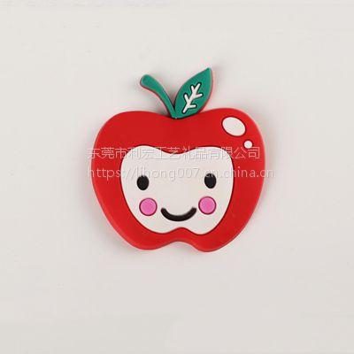 精美礼品磁性冰箱贴 红苹果PVC软胶冰箱贴 创意白板贴个性留言帖
