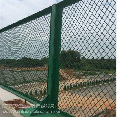 供应铁丝桥梁防抛网定制道路绿色桥梁防抛网浸塑铁丝