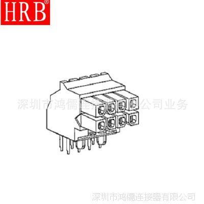 HRB 供应3.0MM 90度弯针线对板连接器 3049系列
