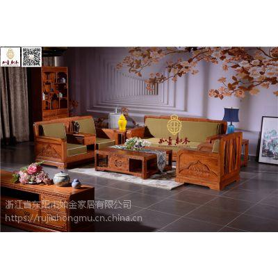 缅甸花梨木沙发供应-如金红木沙发6件套-新中式沙发组合