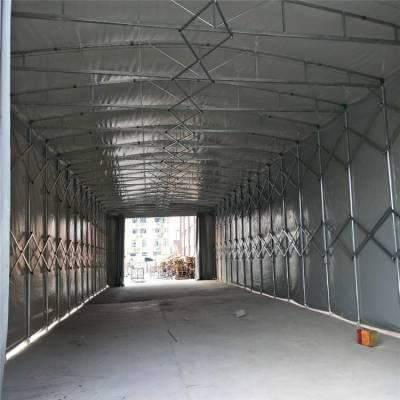 供应石家庄工业推拉仓储棚,伸缩雨棚,悬空电动推拉雨棚。