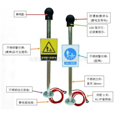 触摸式人体静电消除器(人体静电释放器)型号:JY-CM-003 金洋万达牌