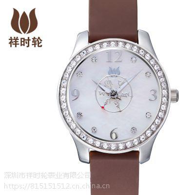 祥时轮文殊智慧六字大明咒指针式复古休闲女款深度防水佛教手表