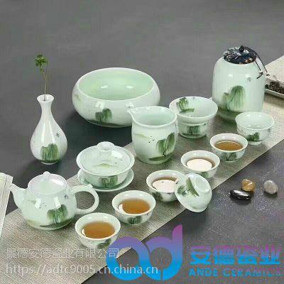 景德镇陶瓷茶具厂 青花陶瓷茶具 陶瓷茶具定制