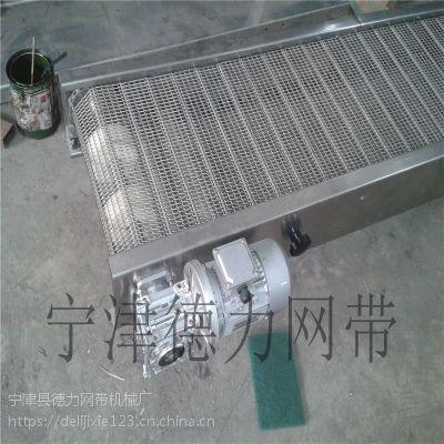 德力 网带输送机不锈钢网带输送机 爬坡网带 输送机输送设备