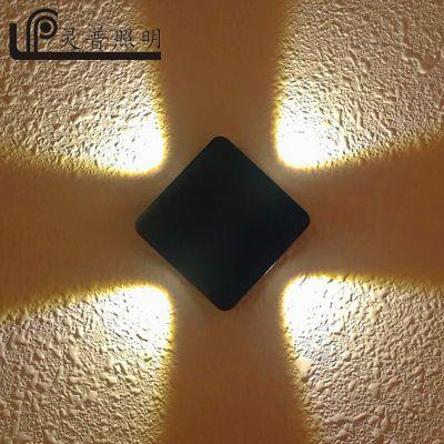 LED壁灯防水户外阳台露台灯 B1007户外十字星光装饰壁灯 科锐COB压铸铝欧式 灵普照明厂家