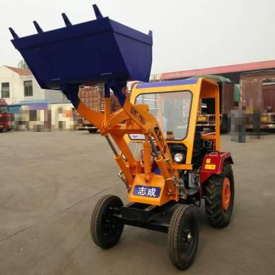 旭阳直销混凝土铲运车22马力柴油轮式铲车工地专用装载机