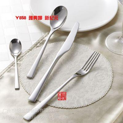 银貂 不锈钢牛排刀叉勺子汤匙 西餐具 不锈钢刀叉餐具