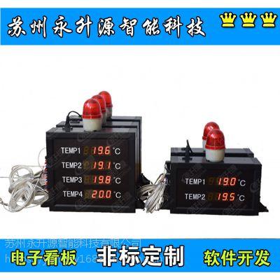 苏州永升源厂家定做报警温度显示屏 锌液铝汤烤箱温度4路看板 4-20mA 0-10V输出输入模拟量信