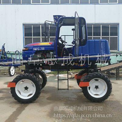 新款水旱两用喷雾器 52马力四驱柴油喷药车 700L自走式撒肥喷药一体机