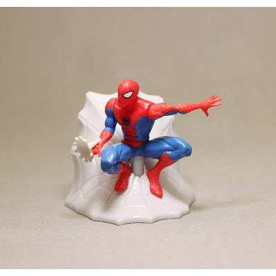 厂家定制汽车玩具 摆件美国英雄蜘蛛侠手办模型PVC公仔搪胶公仔