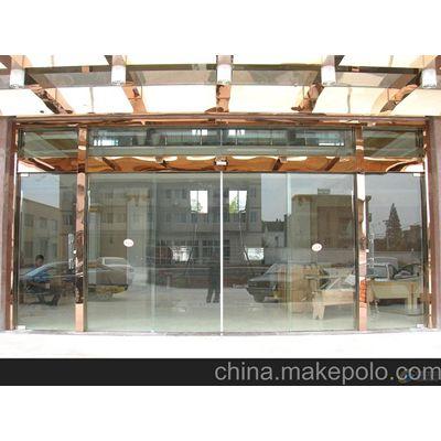 南沙自动玻璃门,超市电动感应玻璃门18027235186