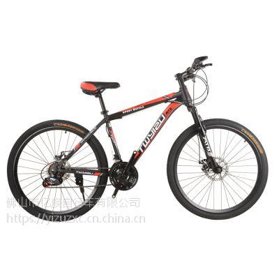 厂家直销自行车 亿族新款 26寸24寸20寸学生礼品山地自行车 减震21速山地车